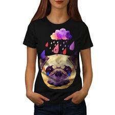 Pug Perro Lluvia Fresco Divertido Mujeres T-shirt new | wellcoda