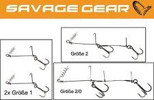 Savage Gear Cork Screw Shad Spin Rig für Gummifische, Angsthakensystem