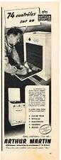 PUBLICITE ADVERTISING   1952   ARTHUR MARTIN  cuisinière gazinière