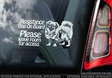 Assistance Dog on Board - Car Window Sticker - Tibetan Spaniel Sign Decal - V19