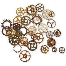 20 un. Mix Metal COGS, engranajes, Steampunk, mecánico Artesanía Adorno Toppers