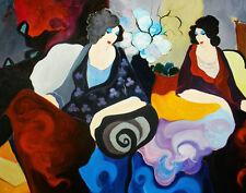 Modern Itzchak Tarkay Abstract Oil Painting Repro Living Room Canvas Wall art 42