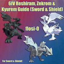 6IV Shiny Reshiram, Zekrom & Kyurem Poke Guide [Sword and Shield]
