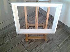 Encadrement Caisse américaine en bois ,Finition Satinée Blanche ,Format Figure
