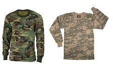 Kids Camo Long Sleeve T-Shirt Boy & Girl Woodland ACU Camouflage Top Undershirt