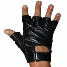 bikeit klassisch Fingerlose Straßen Motorrad Handschuhe schwarz glvrd15