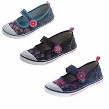 Niñas Bailarinas Niños lino Zapatos Jeans Tela Sandalias Talla 31-36