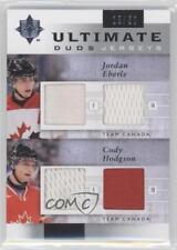 2011-12 Ultimate Collection Duos Jerseys #UDJ-JC Jordan Eberle Cody Hodgson Card