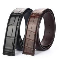 Genuine Crocodile Alligator Skin Leather Men's Belt Without Buckle #JY2602