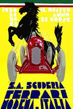 Ferrari Vintage Race Print