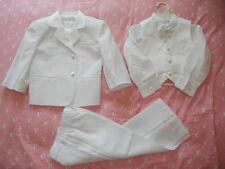 White 5pc Formal Tuxedo Suit Usher Wedding Christening for Baby Toddler Boys 0~7