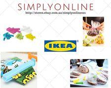 *Mixed Size* 30 IKEA Bevara  Plastic Food Storage Bag Sealing Clips Lock