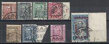 Albania stamps 1928 Mi 171-178 Canc Vf