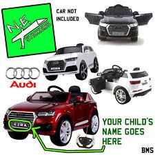 Personalised Front / Back Kids Number Plate: 12V AUDI Q7 SUV ride-on car license