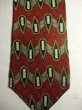 "Jos A Bank Premier Red White Black Tear-Drop Design Silk Tie 57"""