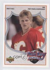 1991-92 Upper Deck Hockey Heroes French #2 Brett Hull Calgary Flames Card