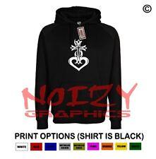Cross #14 Heart Cute Christian Hoodie Black Sweatshirt Jesus Religious Worship