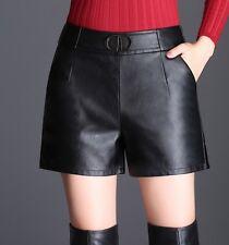 Pantaloncini Donna Simil Pelle Ecologica Woman PU Leather Shorts TRA012