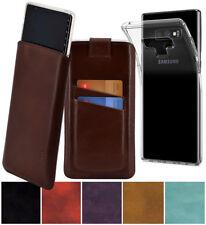 Exclusive Leder Hülle Tasche Handytasche +Silikon Case für Samsung Galaxy Note 9