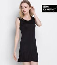 100% Pure Silk Knit  Round Neck Long Type Nightgown Nightdress Sleepwear M-2XL