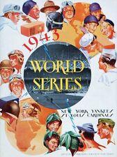 1943 YANKEES vs CARDINALS WORLD SERIES PROGRAM PHOTO YANKEES WIN 4 TO 1 8x10