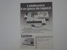 advertising Pubblicità 1973 LECTRON SERIE 2000