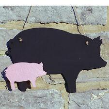 Chalk Blackboard Pig Shape for Memos Notes & Home Decor