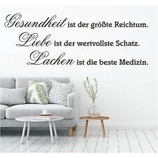 Wandtattoo Spruch Gesundheit Liebe Lachen Schatz Wandsticker Aufkleber Sticker 1