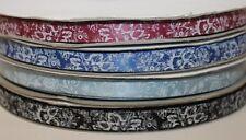 Vintage imprimé fleuri ruban satin gâteau/cadeau décoration arts and crafts ruban