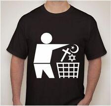 ATHEIST Darwin Anti religion trash T-shirt t shirt