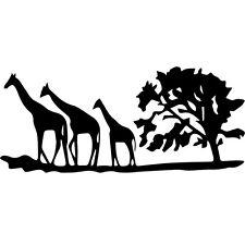 Sticker Décor Afrique arbre et girafes de 10x23cm à 30x68cm (AFRI003)