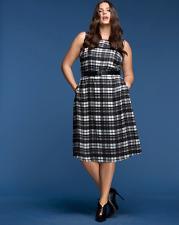 LANE BRYANT Plaid Fit Flare Dress 16 18 20 22 26 28 By Glamour X 1x 2x 3x 4x