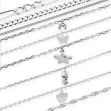 echt 925 Sterling Silber Kette PANZERKETTE Königskette Armkette Armband Fußkette