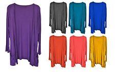New Women Ladies Boyfriend Open Pocket Long Sleeve Cardigan Top Plus SIze 14-32