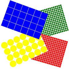 Esterno VINILE Dot adesivi cerchi e quadrati 12mm - 100mm + dimensioni personalizzate