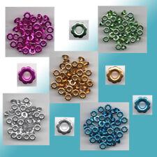 50 Eyelets  Nieten Ösen Blumen 6mm x 3mm verschiedene Farben zur Auswahl