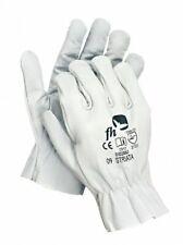 STRIATA Lederhandschuhe Arbeitshandschuhe Schutzhandschuhe Leder M, L, XL, weiß
