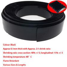 Schwarz PVC Schrumpfschlauch Wickeln RC Batterie Pack LiPO NiMH NiCd Größe&Länge