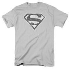 Superman Grey S Mens Short Sleeve Shirt