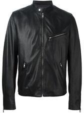 DE Herren Lederjacke Biker Men's Leather Jacket Coat Homme Veste En cuir R98a
