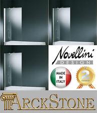 ARCKSTONE Sopra Vasca Fissa Trasparente Bianco Silver Cromo Novellini Aurora 5