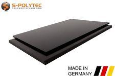 Kunststoffplatte SCHWARZ | PE -HD | 100x49 cm | Polyethylen Platte |TOP QUALITÄT