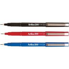 Artline 200 Black / Blue / Red 0.4mm Fineline Pens