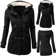 Womens Windbreaker Outwear Warm Wool Hooded Slim Long Trench Coat Jacket Ske15