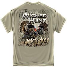New WILD TURKEY  T SHIRT WICKED HUNT  HUNTING SHIRT