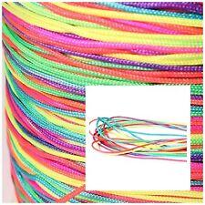 Nylonband Regenbogenfarbe Ø 1 mm zum Basteln 3-10 Meter Neu