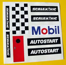 Slot car scalextric 1 / 32e Style vintage reproduction Autostart Autocollants Stickers