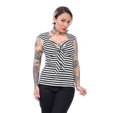 Steady Clothing Vintage Top T-Shirt Oberteil - Striped Sweetheart Schwarz