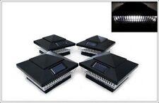 New listing 2-Pack Solar Black Post Cap Led Lights For 6 X 6 Pvc Vinyl or Wood Fence Post