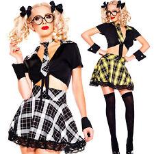 Costume donna vestito carnevale SCOLARETTA abito travestimento Halloween DL-2152